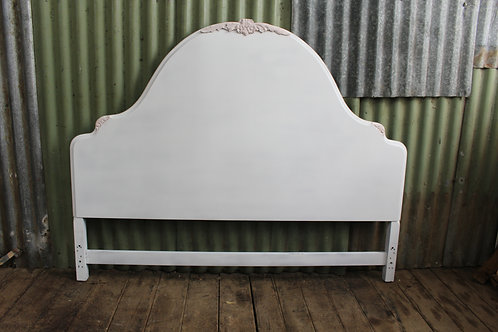 A Vintage Queen Size French Style Bed Head