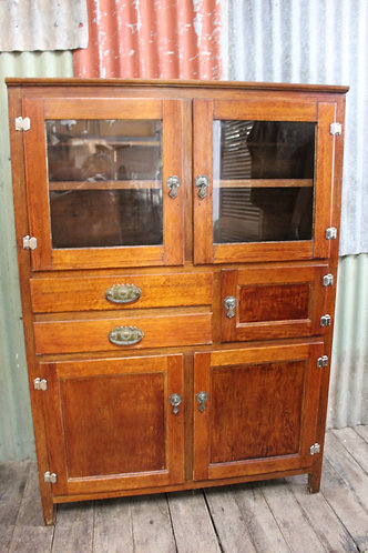 A Country Cottage Kitchen Oak Cabinet C.1950's *FREE DELIVERY *T&C's Apply