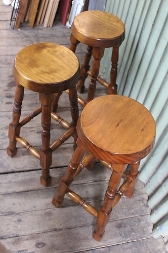 Vintage Timber Bar Stools - Price per Each - Three available