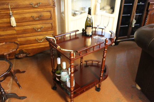 A Vintage Mahogany Auto Trolley - Cocktail Drinks Trolley