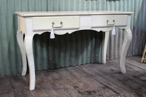 A Vintage Painted French Desk - Hall Table - Console