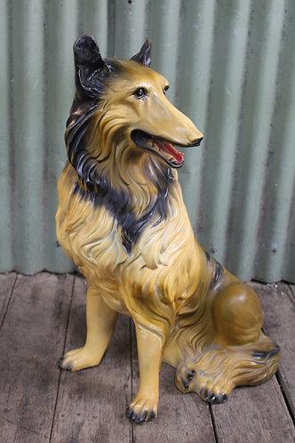An Art Deco Ceramic Floor Dog Collie Lassie 67cm High