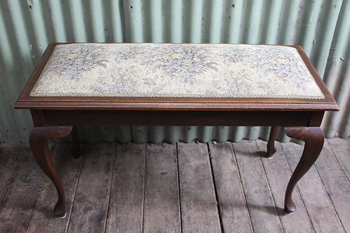 A Large Vintage Duet Piano Stool with Lift Top Compartment - End of Bed Stool