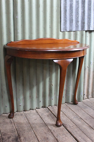 A Vintage Timber Demi Lune Hall Table