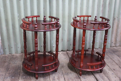 Cedar Occasional 2 Tier Wine Tables with Gallery - PRICE PER EACH