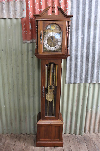 A Vintage Emperor Grandfather Clock with Moon Roller German Hermle Movement