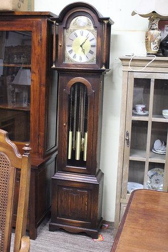 A Rare Jaycee Vintage Tudor English Oak Grandfather Clock - 3 Month Warranty
