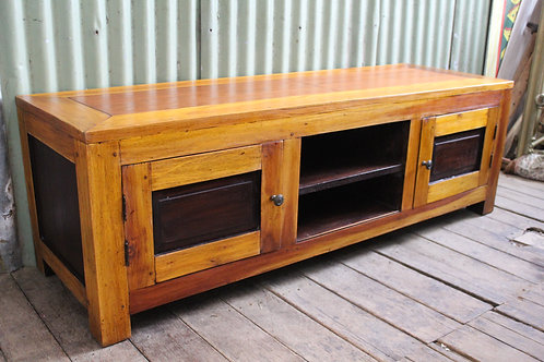 A Good Solid Teak Low Line TV Stand 161 cm