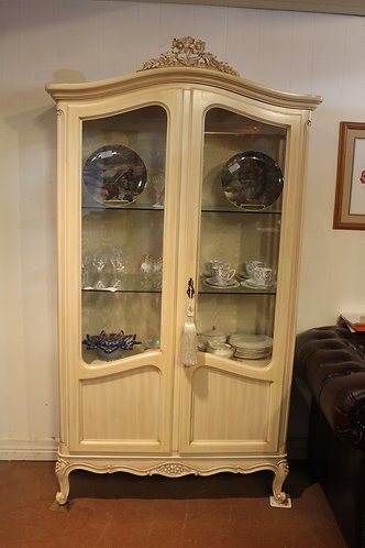 A French Armoire Glazed Crystal Display Cabinet