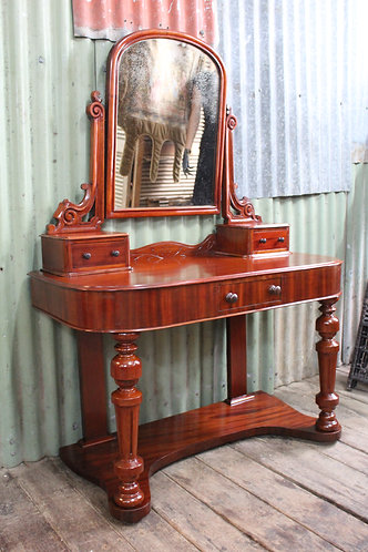 A Victorian Cedar Dressing Table with Pivoting Vanity Mirror - Dresser
