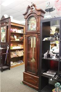 A Vintage Grandfather Floor Clock with German Movement *3 Month Warranty