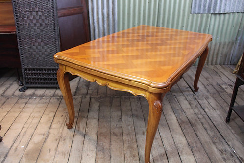 A Vintage French Louis XV Cherrywood Draw Leaf Extension Dining Table 2.48 m