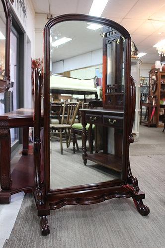 A Victorian Style Mahogany Cheval Mirror