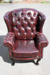 'Sussex'  100% Genuine Leather  Chesterfield  Wing Back Chair