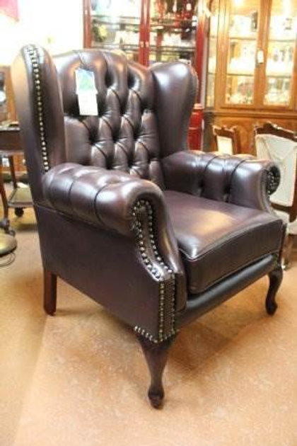 Superb Quality Australian Made 100 Cow Leather Chesterfield Wing Chair Alphanode Cool Chair Designs And Ideas Alphanodeonline