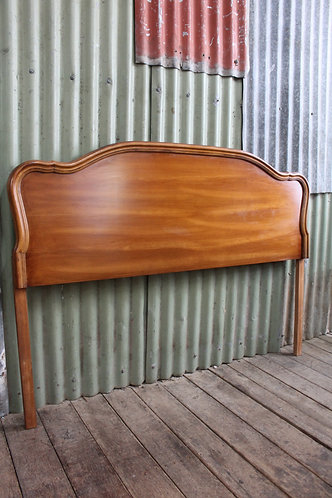 A Vintage French Provincial Timber Bed Head - Queen or Double