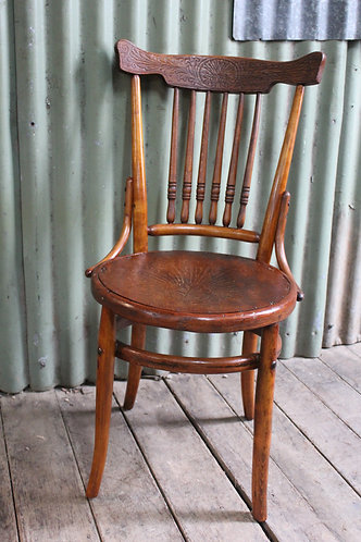 An Antique Bentwood Cottage Chair with Pressed Back & Seat