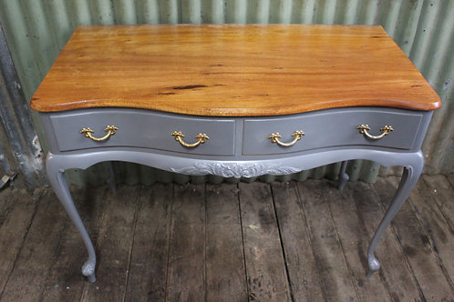 A Vintage French Style Hall Table or Desk