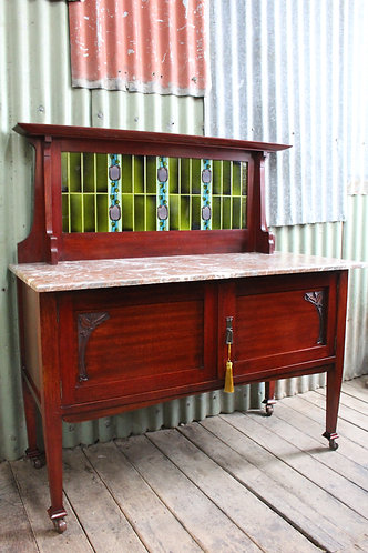 An Art Nouveau Buckely & Nunn Wash Stand Bathroom Vanity *FREE DELIVERY *T&C's
