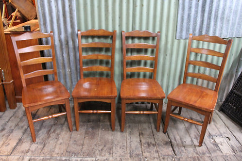 A Set of Four Vintage Ladder Back Chairs by Early Settler