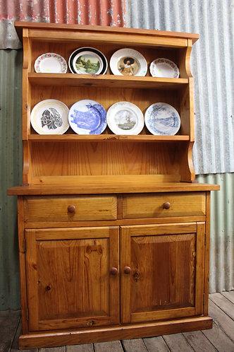A Solid Vintage Kitchen Dresser Hutch