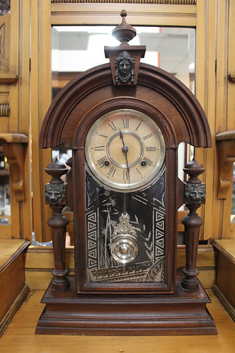 An Antique C.1882 American Empire 'Ansonia' Mantle Clock with 3 Month Warranty
