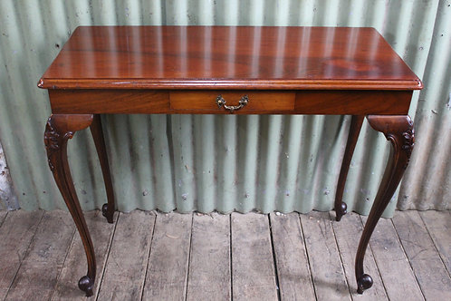 A Victorian Cedar Hall Console Table with Drawer on French Legs