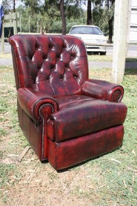 A Brand New 100% Leather Chesterfield Recliner with an up to 5 year Warranty