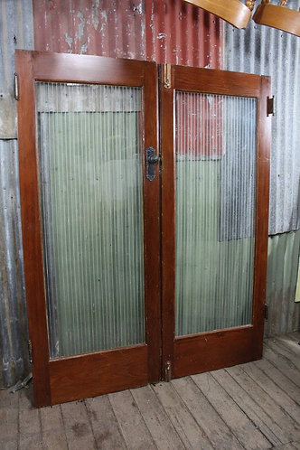 A Pair of Art Deco Cedar Double Doors 1605mm W and 2010mm