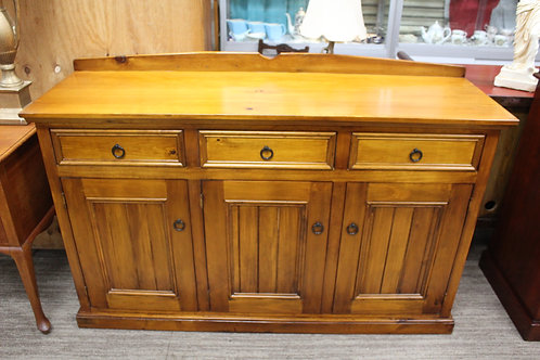 A Vintage Rustic Timber Sideboard - Cabinet - Cupboard