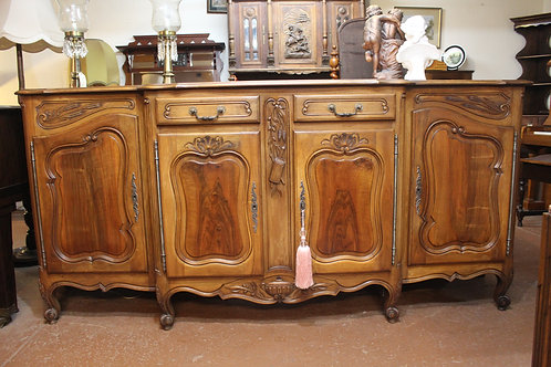 A Large 2.4m French Provincial Sideboard with Parquetry Top *FREE DELIVERY *