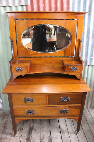 An Arts & Crafts Blackwood Dressing Table - Dresser