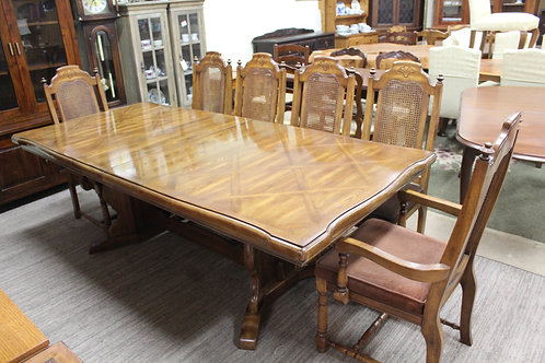 A Solid Set of 6 Vintage French Provincial Oak Chairs - Table in another Listing