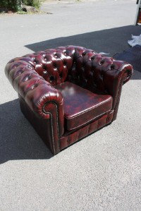 A Brand New  'Sussex'   100% Leather  Chesterfield  Single Seater Chair