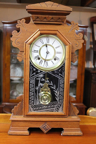 An Arts & Crafts Ansonia Antique Mantel Clock - 3 Month Warranty