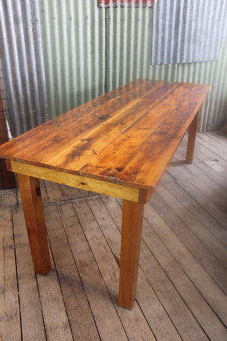 An Awesome Recycled Rustic 2m Dining Table - *FREE DELIVERY *T&C's