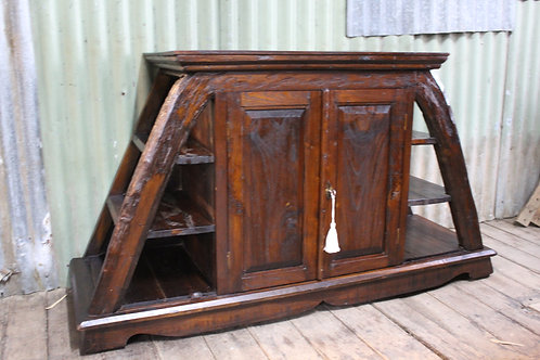 A Large Hand Carved Sideboard Console or TV Cabinet