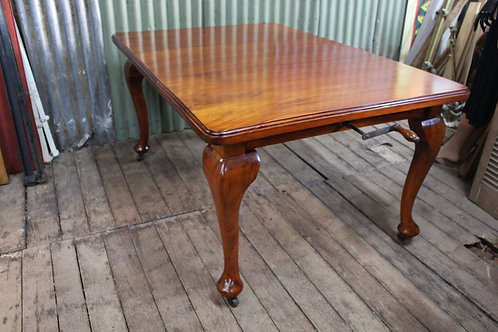 An Antique Cedar Extension Dining Table with Leaf & Winder