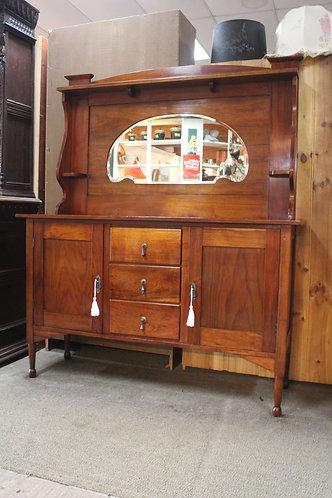 Art Deco Blackwood Mirror Back Sideboard Dresser - Arts & Crafts