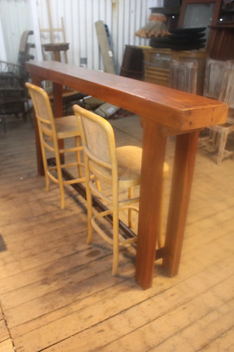 Recycled Bar Table on Iron Railway Track Base - Hall Table *FREE DELIVERY T&C's