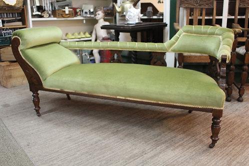 An Antique Art Nouveau Double Ended Chaise Longue