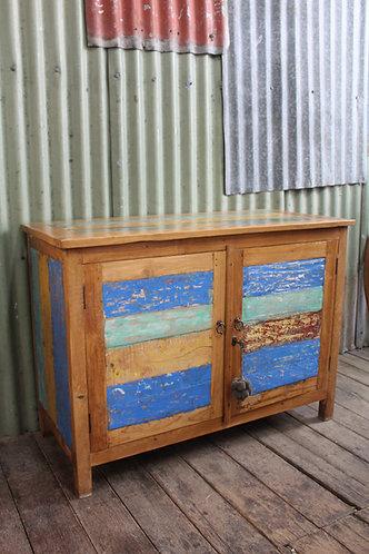A Distressed Beach House Sideboard 2 Door Cabinet Cupboard
