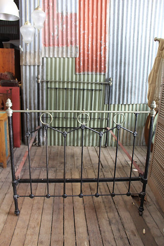 An Original Victorian Cast Iron Double Bed