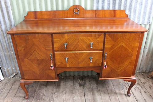 A Stunning Blackwood Fiddleback Sideboard Buffet