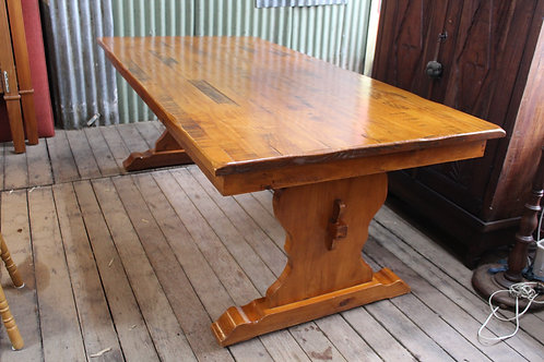 A Vintage French Distressed Refectory Dining Table 2.1m