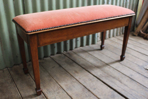 An Sheraton Revival Duet Piano Stool with Lift Top Seat