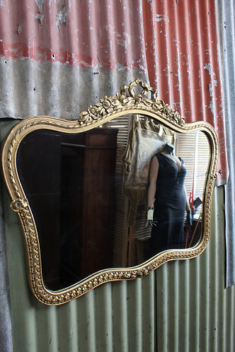 A Classical Vintage Gilt Framed Wall Mirror 1m Wide