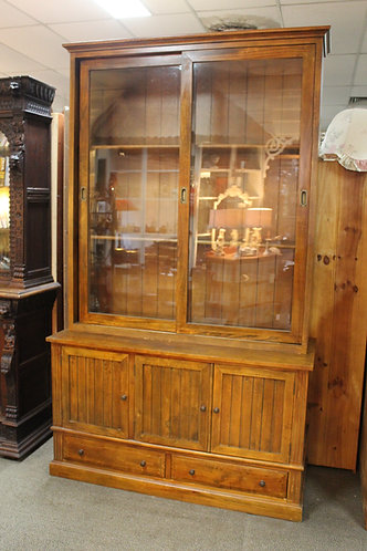 Large Vintage Country Kitchen Cabinet or Bookcase 2.4m High