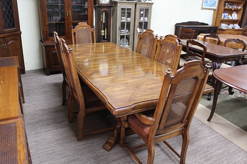 Vintage French Provincial Oak Extension Dining Table - Chairs in another Listing