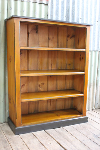 A Vintage Rustic Timber 4 Tier Book Shelf - Bookshelves - Bookcase